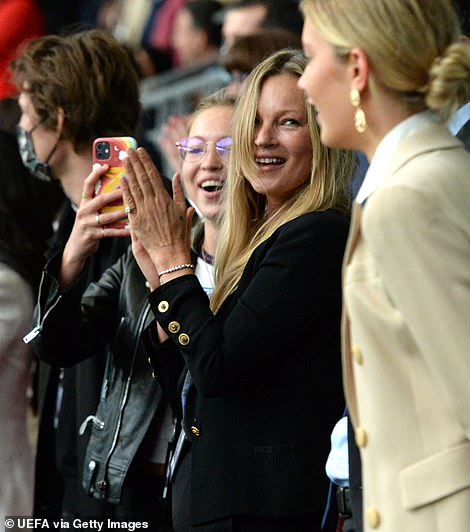 Changing faces? Kate and Lila went from giggles and glee in the stands to looking glum as they departed