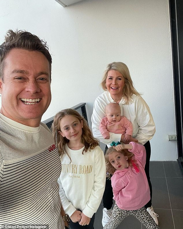 Family: Grant and his wife Chezzi have three daughters, Sailor, 10, Scout, five, and Sunday, five months, and he becomes quite emotional in the SBS special, insisting that his girls are better than him in every way. All pictured