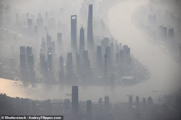 Just over half of the world's urban greenhouse gas emissions come from just 25 mega-cities, with Shanghai (pictured, Tokyo and Moscow topping the list, a study has found