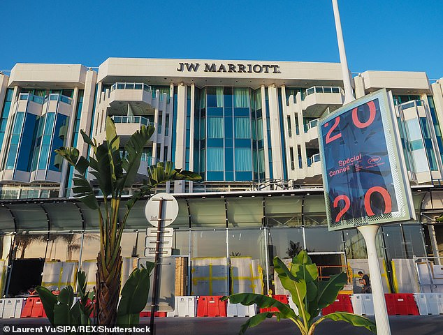 Scene: Sources confirmed the crime took place at Marriott on the Croisette, (pictured), where the star was staying - while she stepped out for breakfast with her daughter, one