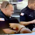New York cop is placed on leave after punching woman in the THROAT while detaining her 💥👩💥