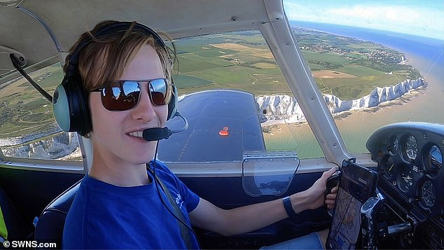 Only being able to fly at a maximum altitude of 16,000 feet in his tiny aircraft meant Travis was treated with some spectacular views during his flights