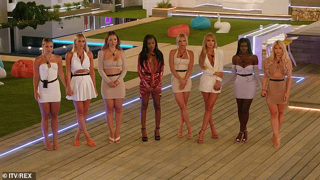 Tense:A preview of tonight's episode reveals that Teddy will be the last of the boys to pick a girl to couple up with, meaning that whoever he doesn't choose will be dumped from the island