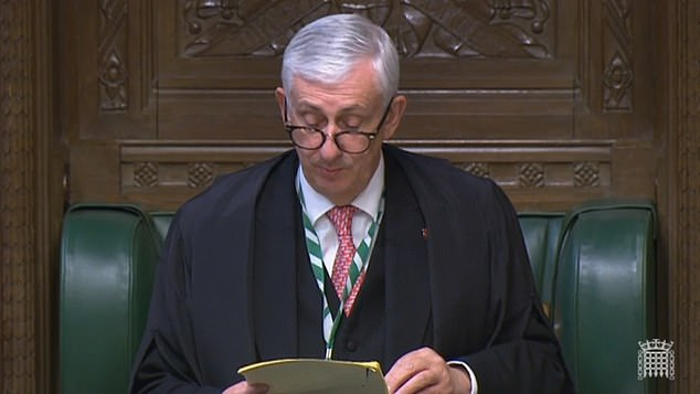 Speaker Lindsay Hoyle hailed a return to a 'buzzing' House of Commons after the ruling commission agreed that restrictions can lift next week, with masks 'encouraged' but not compulsory
