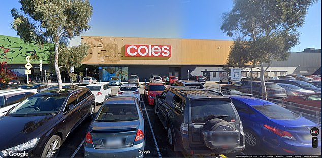 The infected cases have also put a Mobil service station, a McDonald's, a Metro petrol station and a Coles at Craigieburn Central Shopping Centre (pictured)