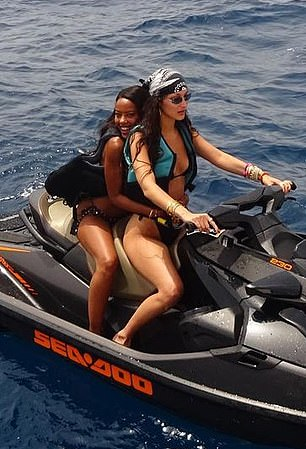 Ride or die: While sharing a jet ski with her best friend Fanny Bourdette