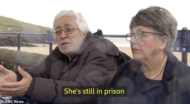 Ms Assayed's parents Ziad and Helen (pictured) say she is being kept in a solitary cell and said the situation is 'heartbreaking'