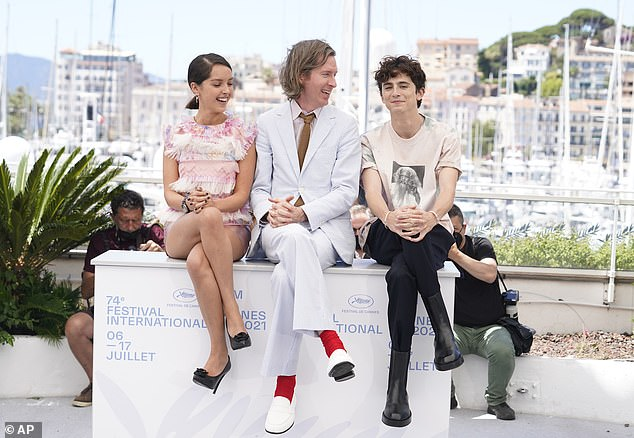 Movie: Wes Anderson's The French Dispatch follows a group of journalists and is based on the writings of The New Yorker (Wes and Timothée pictured with Lyna Khoudri)