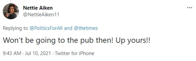 Anxious people have revealed on Twitter that they are not likely to go to the pub on the so-called Freedom Day, whether they are nervous about catching the virus or irritated by being required to wear masks upon entry. Some have also expressed frustration of being 'pinged' to self-isolate by the NHS app