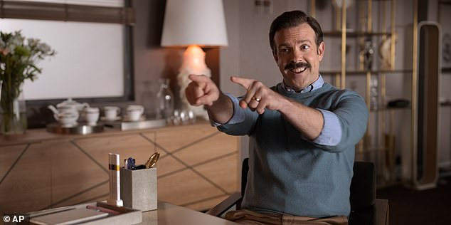 One of the top series this year: Jason Sudeikis in the Apple TV Plus show Ted Lasso