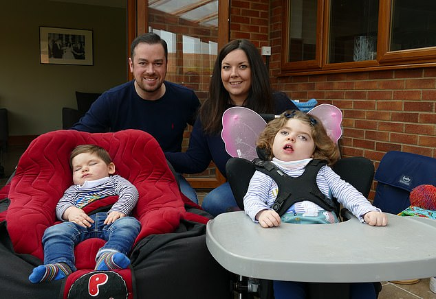 Generous: It was when The Secret Millionaire star was scrolling through charity Sense's website when he came across Mia, four, and Charlie Clucas, three, (pictured) and wanted to help them