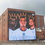 Giant mural unveiled in support of England stars Marcus Rashford, Jadon Sancho and Bukayo Saka 💥👩💥