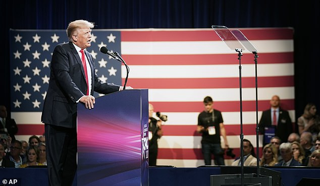Trump addressed the Conservative Political Action Conference in Dallas on Sunday. The fundraising hauls of Cheney and Stefanik will be seized on by their supporters as indicators of the relative strengths of Trump supporters and opponents in the Republican Party