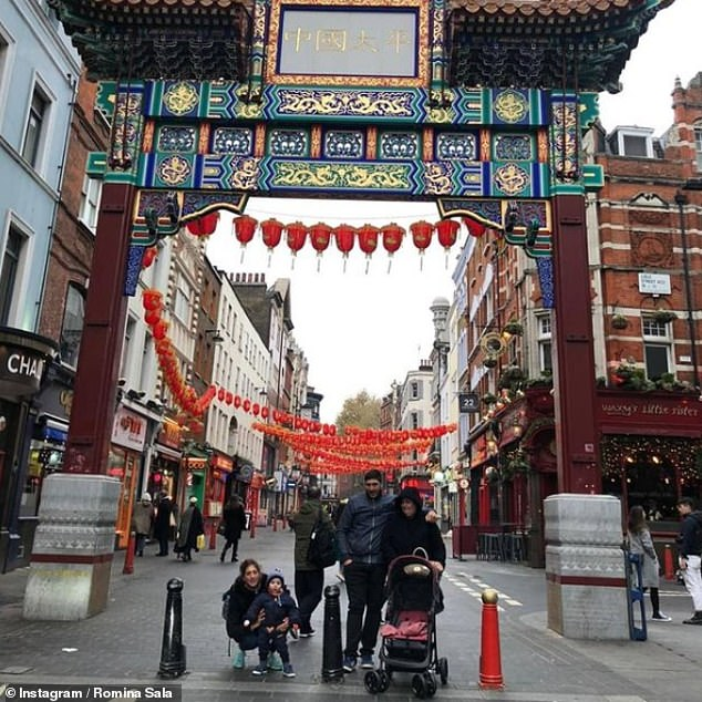 Sharing a family photo in London's Chinatown, Rominavowed to 'continue living' in an emotional social media post