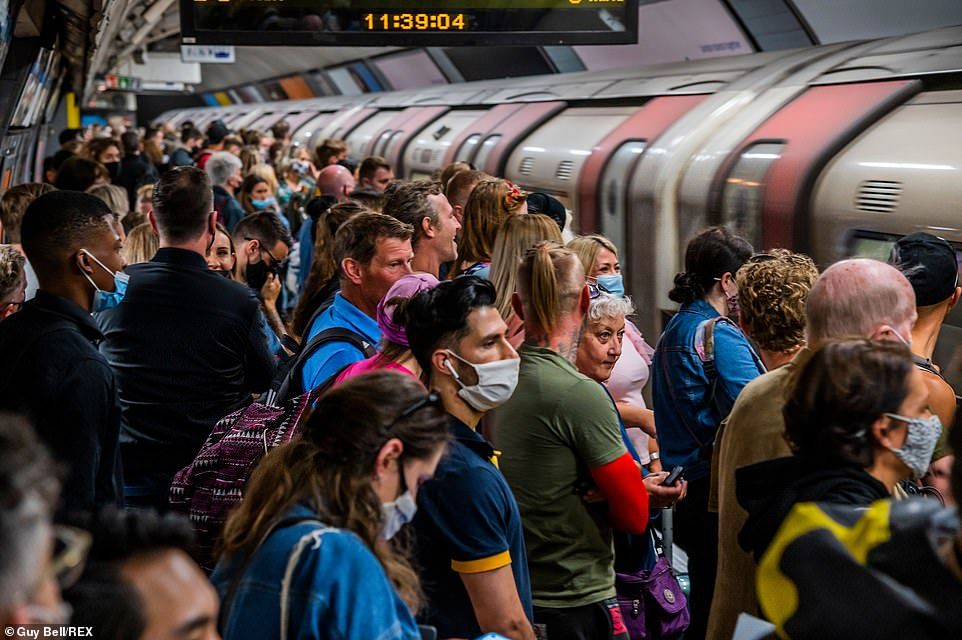 London Mayor Sadiq Khan has announced that masks will stay compulsory on the Tube, buses and taxis in the capital - even though they are not required on trains elsewhere from 'Freedom Day'