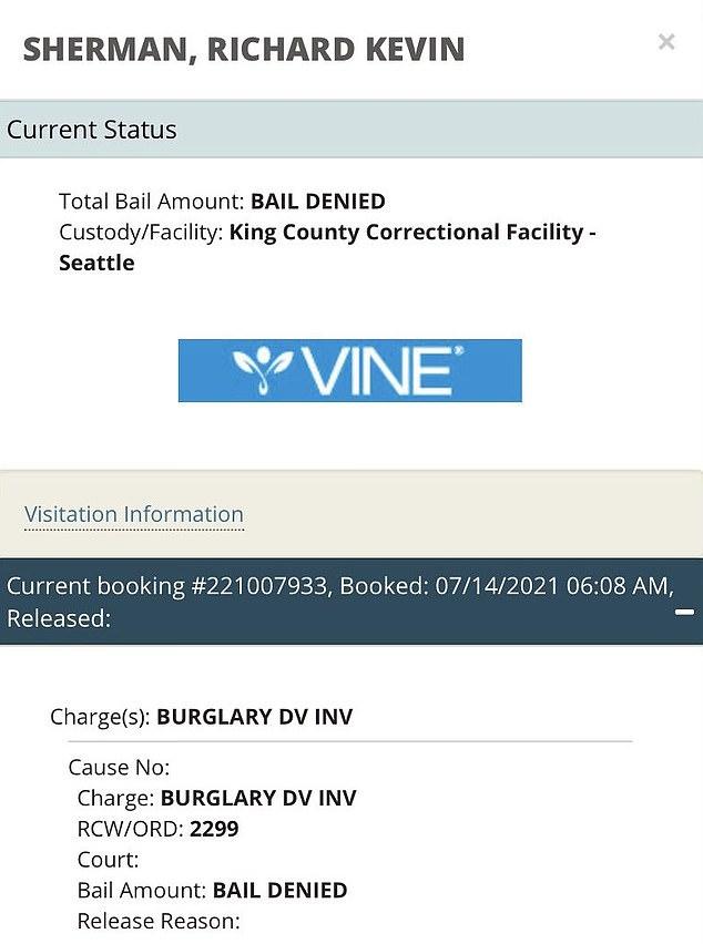 Ricahrd Sherman has been denied bail in King County Washington