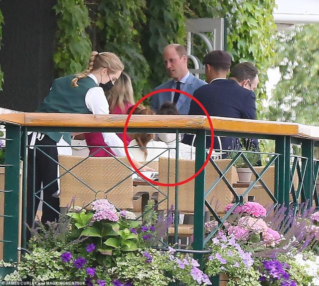 Priyanka and Natasha sat to enjoy drinks on the balcony at Wimbledon's Centre Court after the game, William and Kate were also seen on the balcony