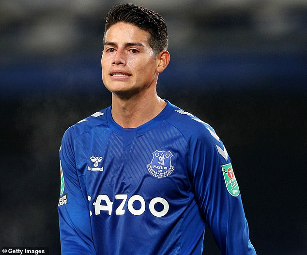 James Rodriguez is facing an uncertain future at Everton and could leave this summer