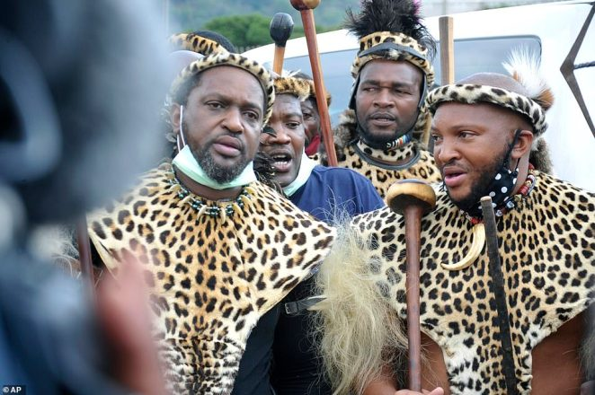 On Wednesday, Misuzulu Zulu (left), the king of South Africa's Zulu community - the country's largest ethnic group - appealed for an end to the unrest [File photo]