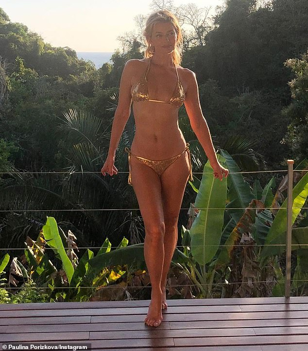Memories: Costa Rica has become a happy place for the mother of two, who traveled there in early 2020 (pictured) while morning the loss of her husband Ric Ocasek