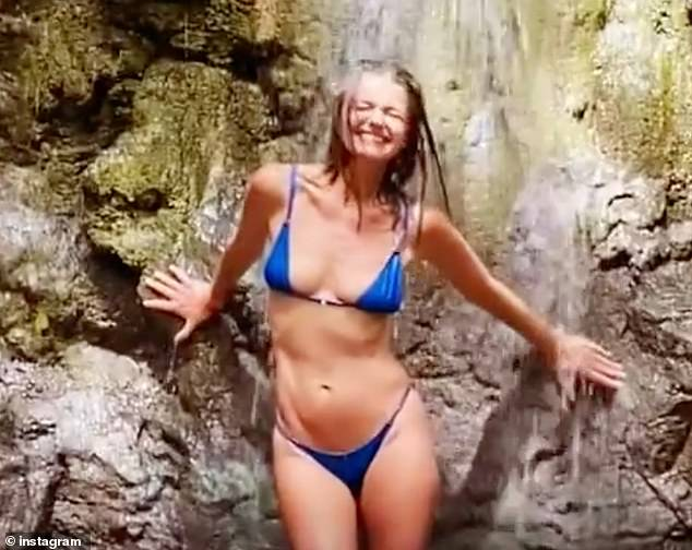 Living it up: Paulina Porizkova, 56, has been sharing photos and videos of her tropical getaway in Costa Rica