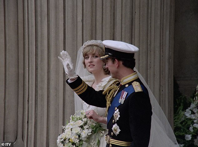 The fairy tale wedding (pictured) was watched by a record 750million people in 74 countries across the world in 1981