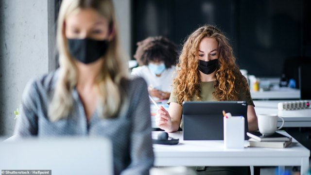 Businesses should consider keeping staff wearing masks indoors even after lockdown ends, according to new government Covid guidance released tonight.