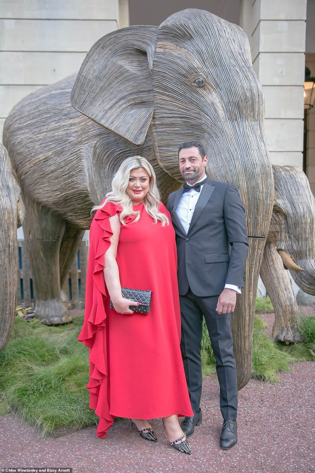 Guests of Their Royal Highnesses included Gemma Collins, who arrived in a striking red gown with on-again beau Rami Hawash