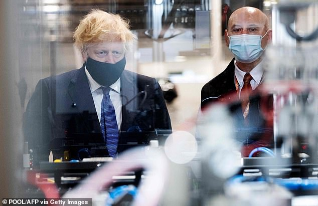 Boris Johnson delivered his levelling up speech at the UK Battery Industrialisation Centre in Coventry, where he was given a tour of the facilities