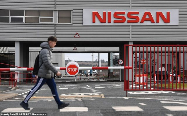 Up to 10 per cent of staff working at Nissan's car plant in Sunderland (pictured) have been told to self-isolate by the app