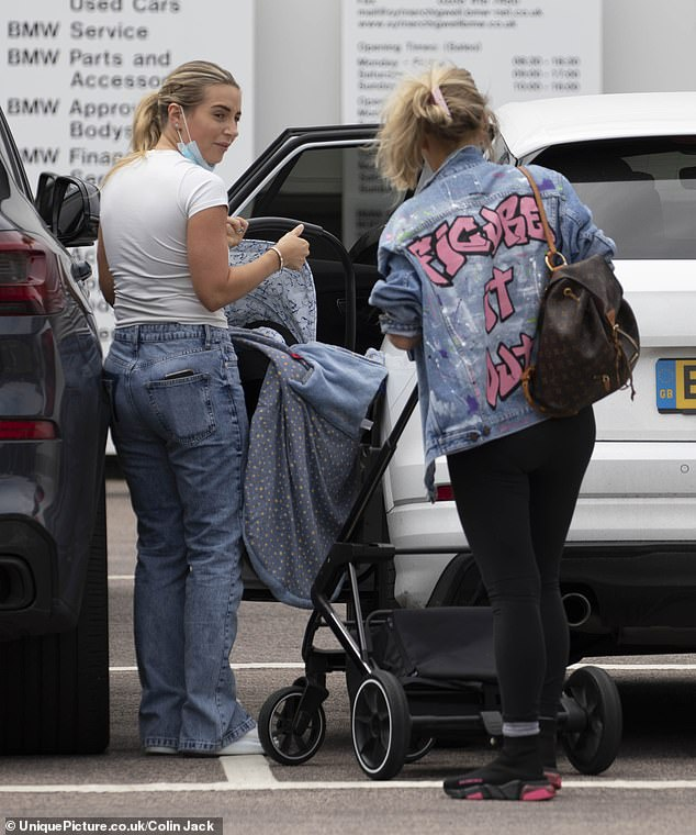 Figure It Out: Joanne's jacket bore the slogan: 'Figure It Out'