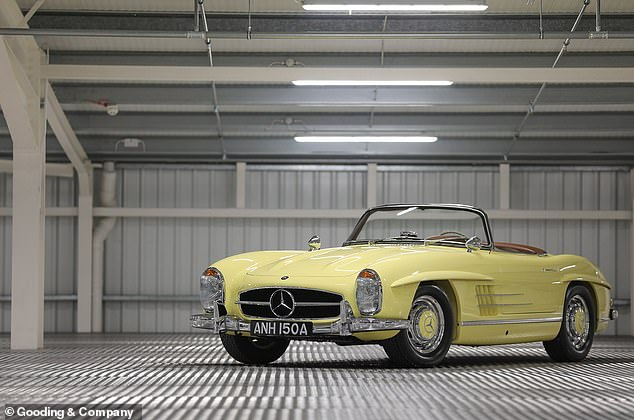 This stunning yellow Mercedes-Benz 300SL has sold for a figure just shy of £1million