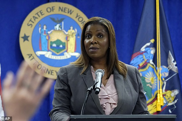 The investigation is being overseen by Attorney General Letitia James, pictured