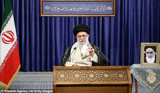 In the days and weeks after the election, Trump is said to have repeatedly raised the topic of striking Iran. The image above shows Iranian Supreme Leader Ayatollah Ali Khamenei in Tehran on June 4