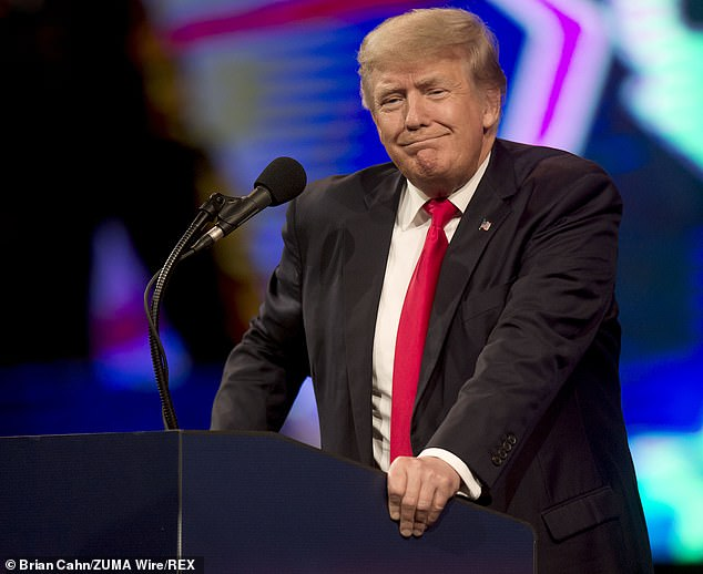 According to excerpts from a soon-to-be-released book, Milley was so concerned that then-President Donald Trump (seen above in Dallas on Sunday) or his allies might try to use the military to remain in power that he and other top officials strategized about how they might block him - even hatching a plan to resign, one by one
