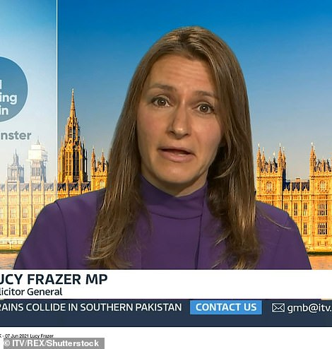 Lucy Frazer warned Britain could be pushed into another lockdown if cases continue to rise. But she hinted that now was still the right time to lift restrictions