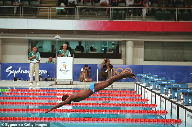 Moussambani (pictured) made waves with his performance at the Olympics in Sydney in 2000