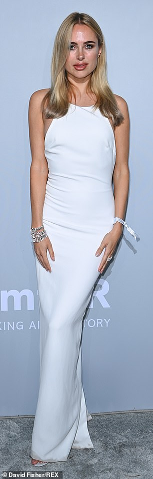 Gorgeous: It comes after Kimberley pulled out all the stops on the red carpet of the amfAR Gala during the 2021 Cannes Film Festival on Friday