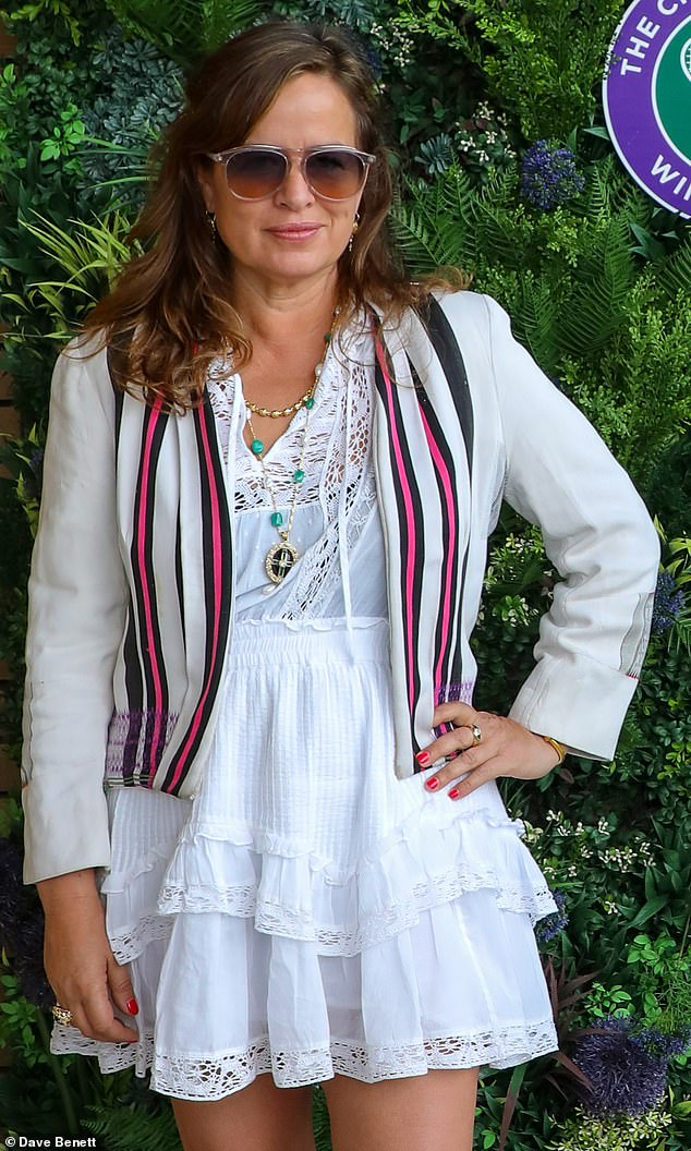 Jade Jagger, 49,the daughter of Rolling Stones legend Sir Mick Jagger has split from Adrian Fillary, her DJ husband and – as this picture shows – she has removed her wedding ring