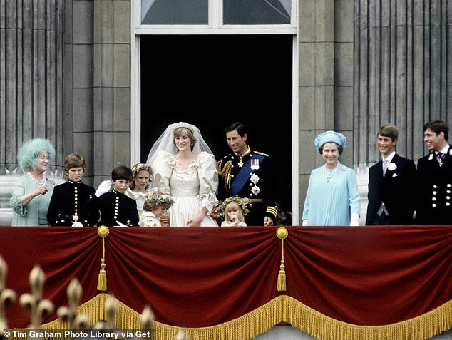 The Queen and the Queen mother were also standing on the balcony on the happy day