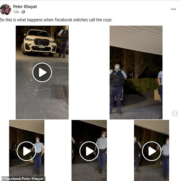 He posted clips from the police encounter on Facebook and TikTok (pictured)