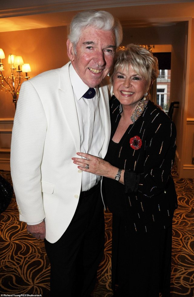 Tom O'Connor and Gloria Hunniford at a 'Strictly Tea Dancing' charity auction for the Caron Keating Foundation, London, November 7, 2010