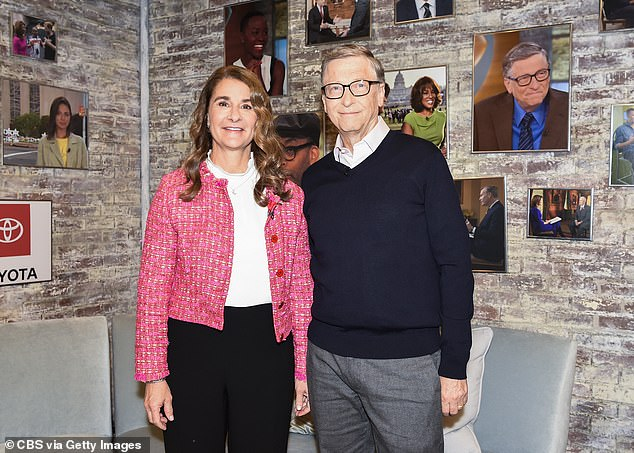Dr Max said too often peopleare happy to accept the lie that both parties must hold some responsibility when a relationship breaks down. Pictured: Bill and Melinda Gates