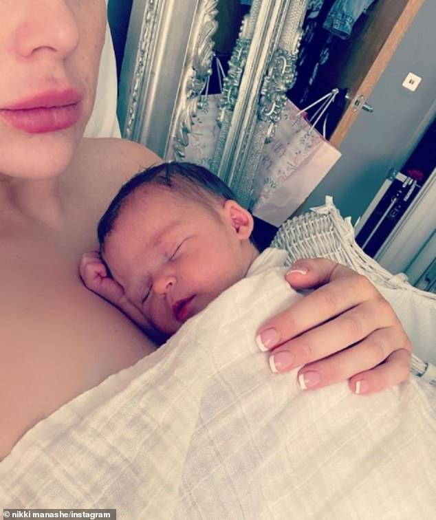 Sweet:Alex Reid's fiancée Nikki has shared a new image of their newborn daughter Anastasia Pixie, after welcoming the tot following a seven-year IVF battle earlier this week