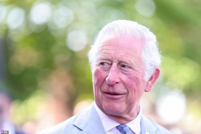 The Prince of Wales during a visit to Exeter Cathedral in Devon to hear about restoration work and meet with community groups