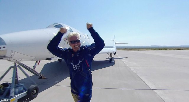 Virgin billionaire Richard Branson successfully flew to space on July 11 on SpaceShip Two Unity 22. He went 53 miles above Earth's surface - 13 miles less than Bezos plans to travel on Tuesday