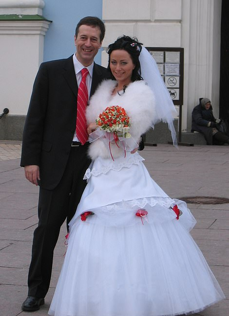 The couple had only been married a year (pictured together in 2007) when Barry was killed in a hit and run