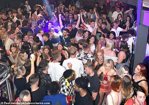 Aside from the royals' example and the joyous pictures of young people returning in their droves to nightclubs (Astoria in Portsmouth is pictured), Freedom Day has felt hollow