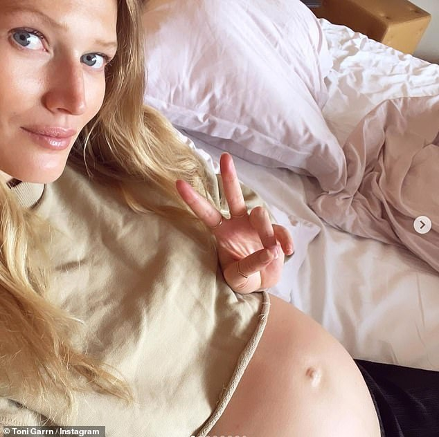 Baby makes three!The German model made the surprise announcement that she is expecting a baby with Alex, who she married in October 2020, in March