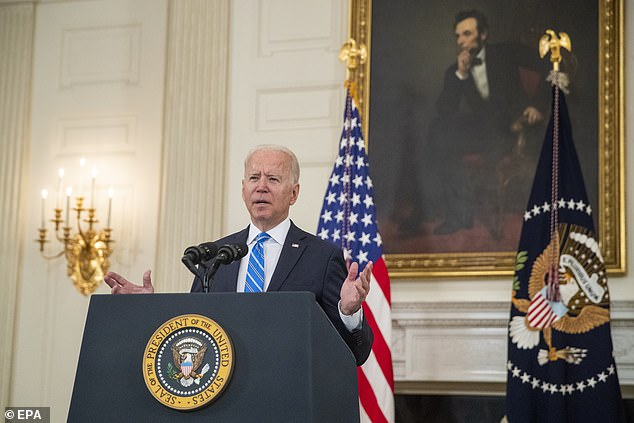 Biden said investments would rebuild U.S. supply chains and ease pressure on production that had contributed to rising prices